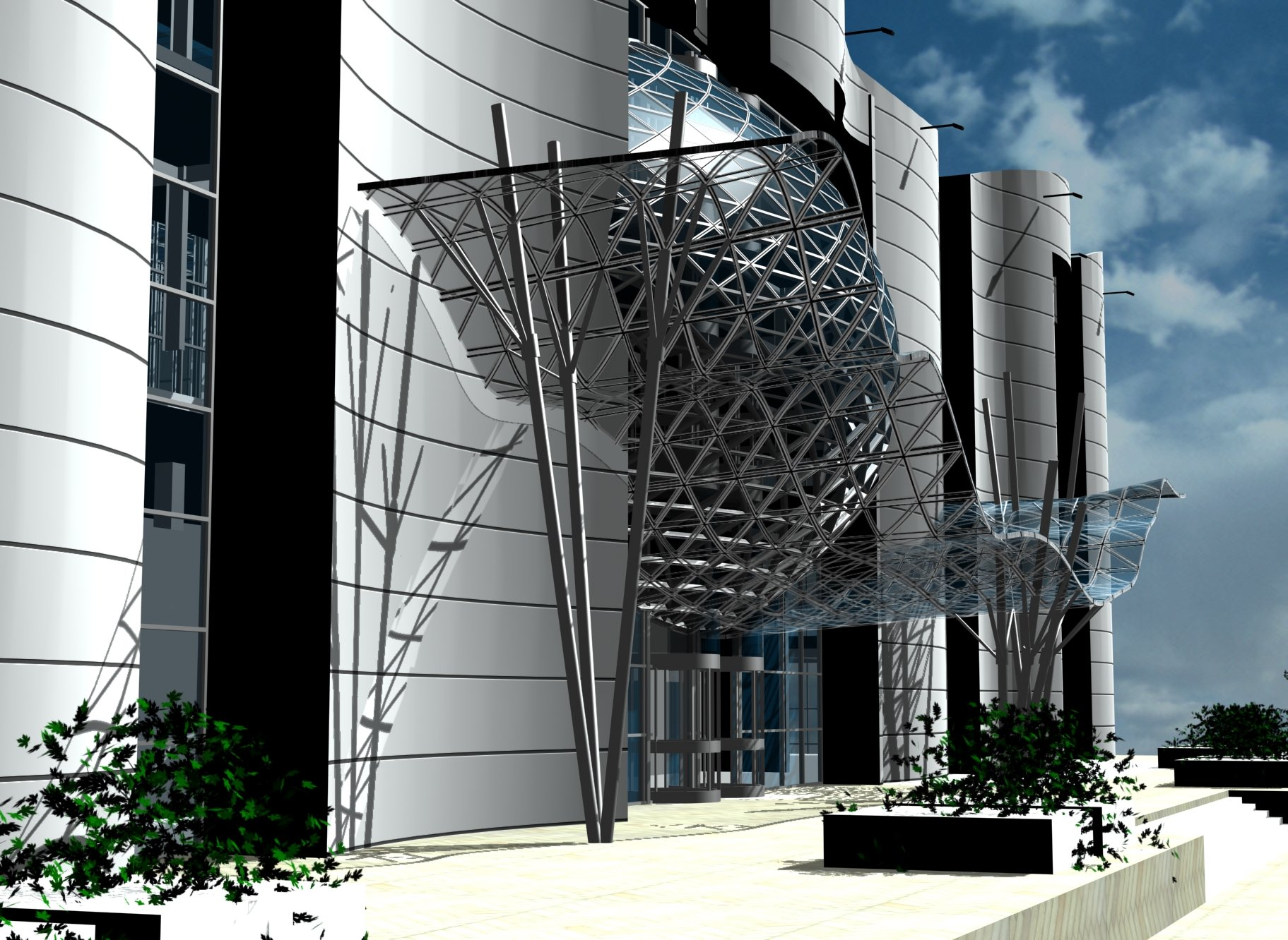Architetti Campana - Centro Commerciale - Mosca - Particolare 2