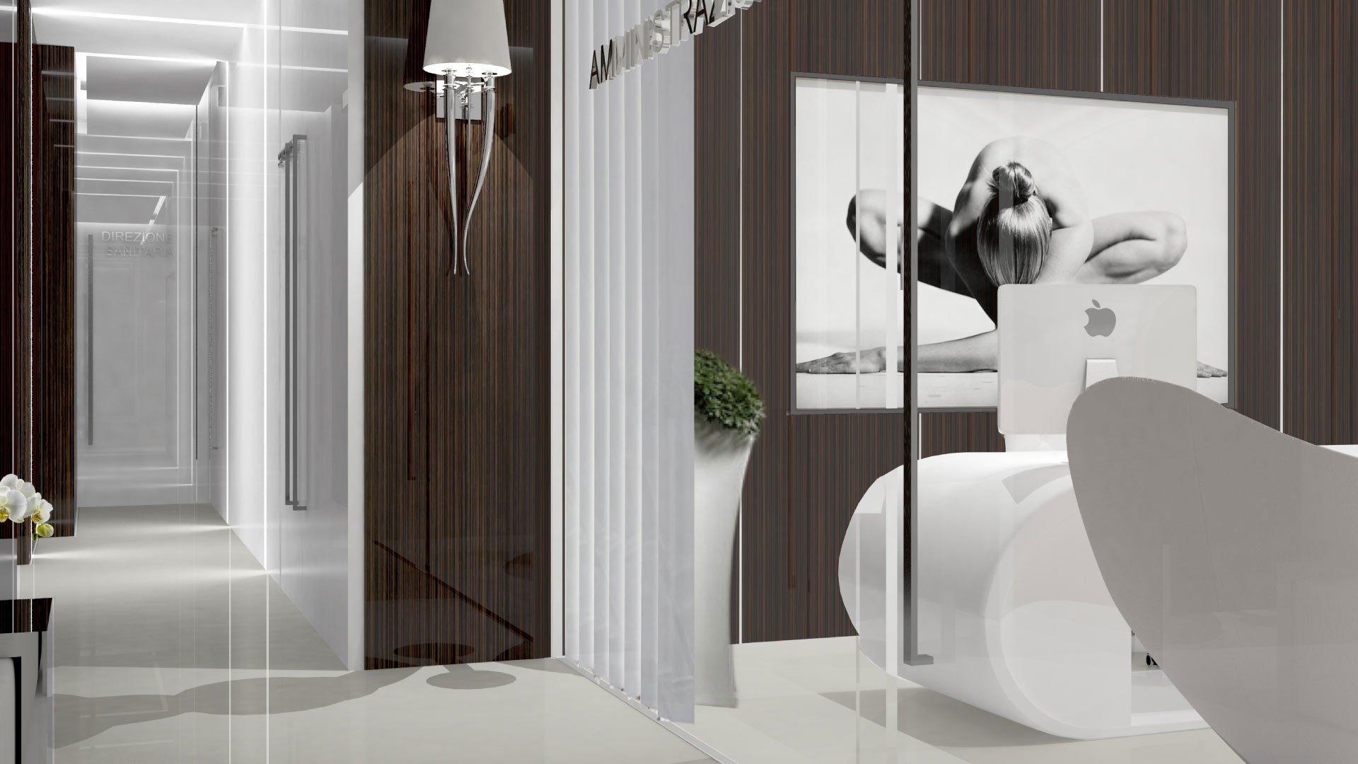 Architetti Campana - Clinica Novamedis - Corridoio - Render