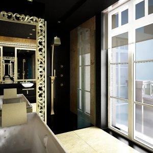 Architetti Campana - Hotel Hilton - Kiev - Bagno