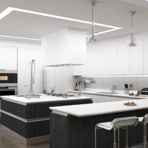 Architetti Campana - Residenza Privata - Cucina render