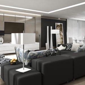 Architetti Campana - Residenza Privata - Salone render
