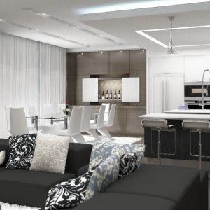 Architetti Campana - Residenza Privata - Salone1 render